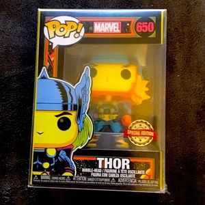 Funko Marvel Black Light Thor Collectable Toy 650#